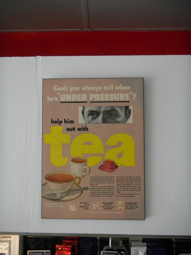Under pressure tea ad