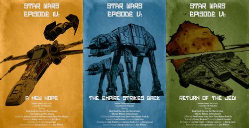 Star Wars Original Trilogy movie posters