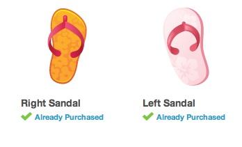 Sandals luxury items Empire Avenue.