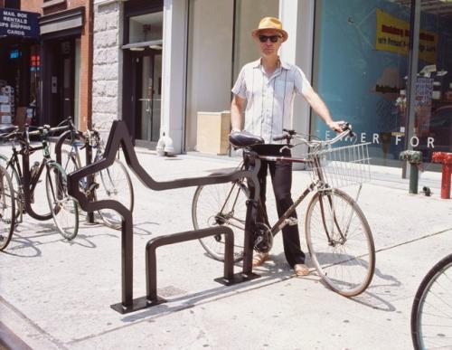David Byrne bike rack