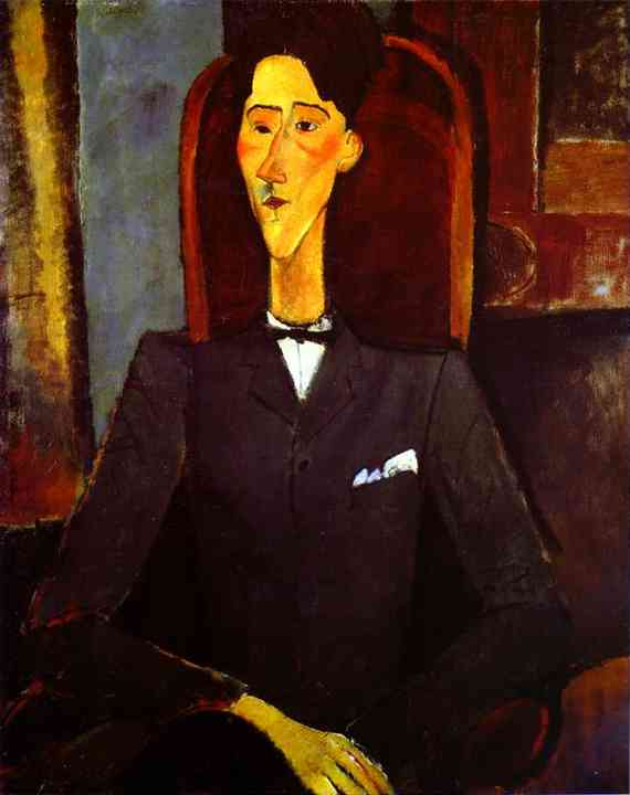Jean Cocteau painting by Amedo Modigliani