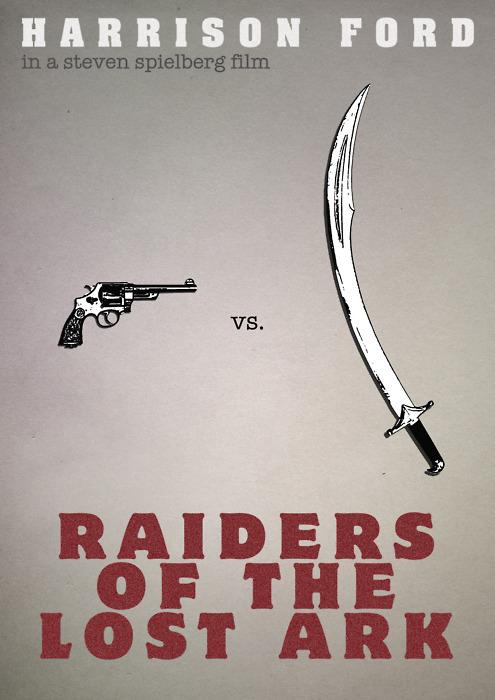 Raiders of the Lost Ark Minimalist Movie Posters