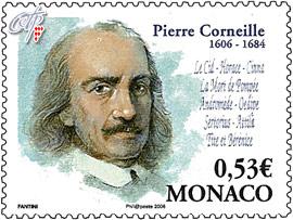 Pierre Corneille Monaco stamp
