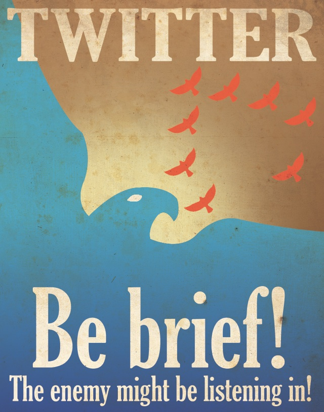Twitter propaganda poster Laughing Squid