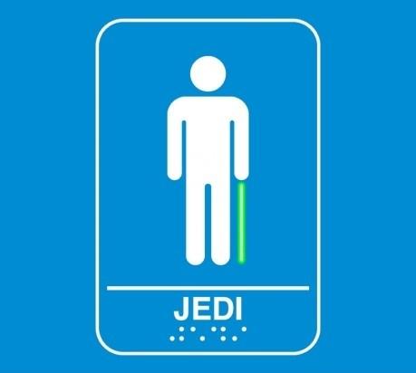 Jedi washroom sign