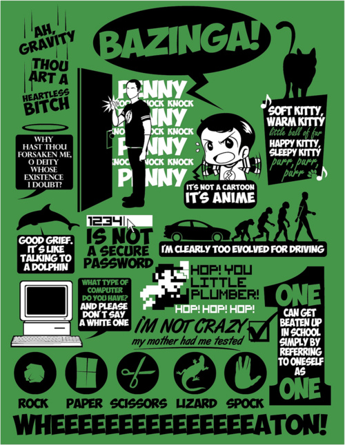 Big Bang Theory catchphrase poster