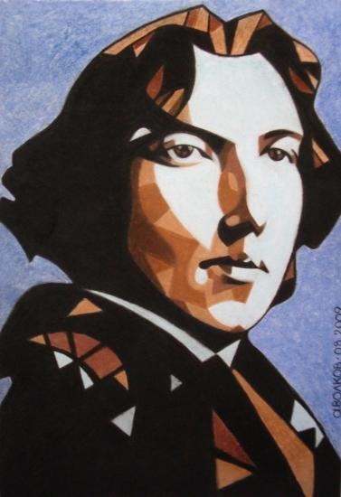 Oscar WIlde portrait Volkov