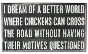 Chicken road crossing motive sign