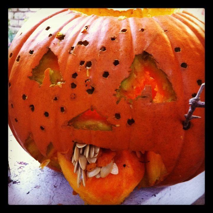 Zombie pumpkin Nick 2011