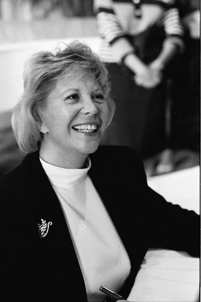 Dinah Shore smiling black and white