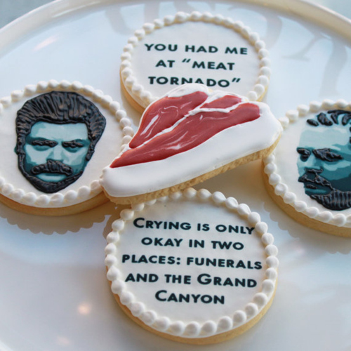 Ron Swanson cookies