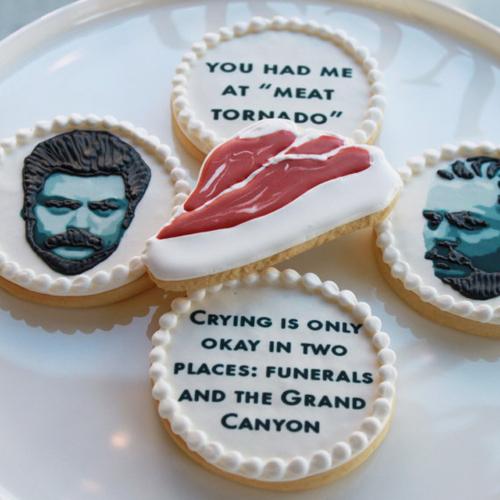 Ron Swanson cookies