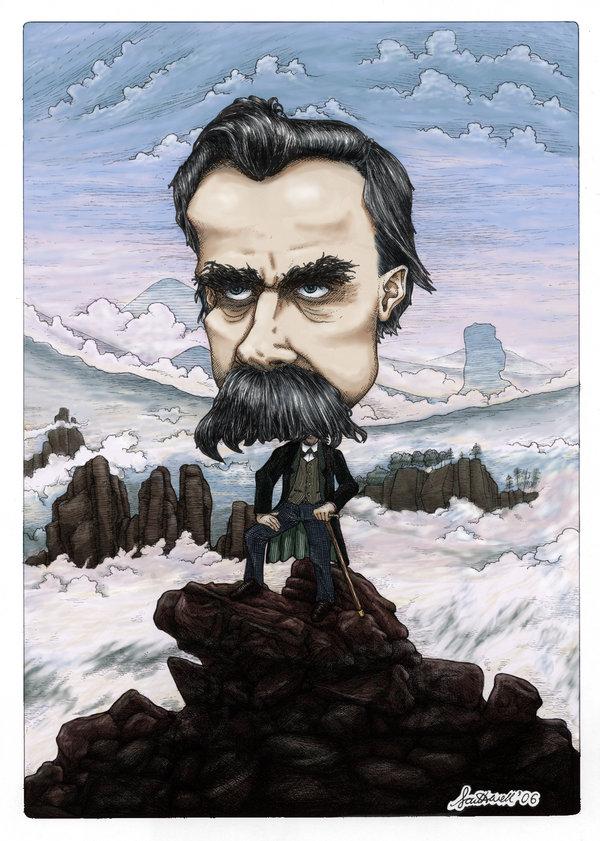 Nietzsche illustration by Deviant Art