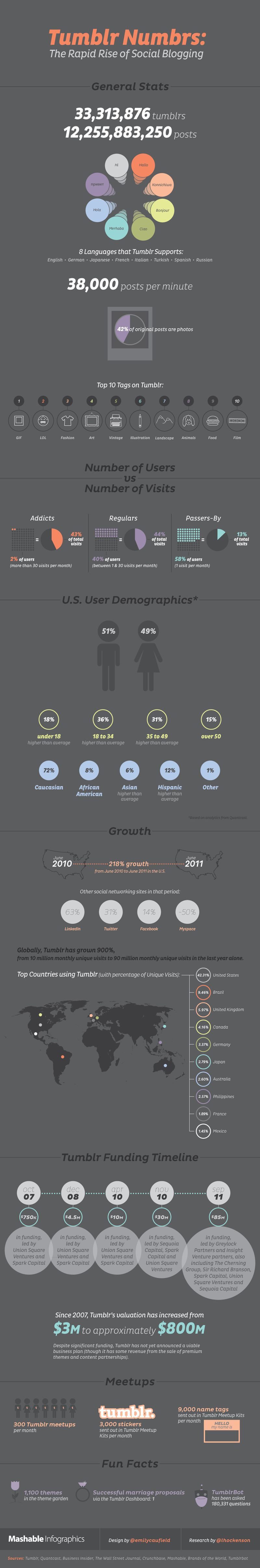 Tumblr growth infographic Mashable