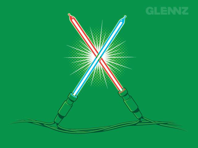 Christmas lights Star Wars LED lightsabres