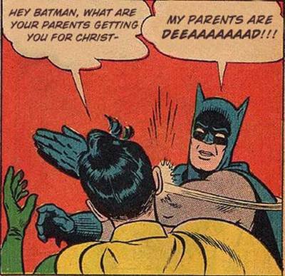 Batman Robin generator Christmas parents