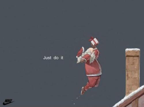 Just Do It Santa Nike