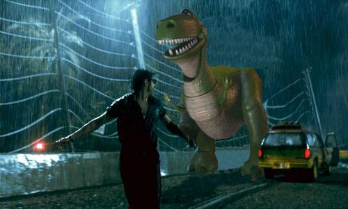Rex in Jurassic Park