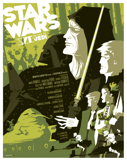 Return of the Jedi reimagined poster