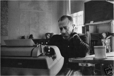 John Steinbeck typing