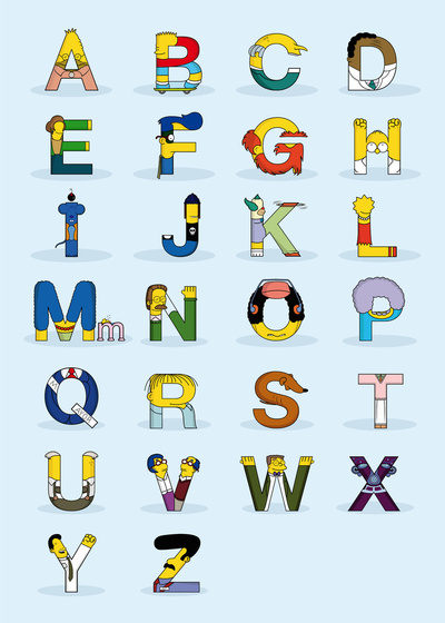 Simpsons alphabet