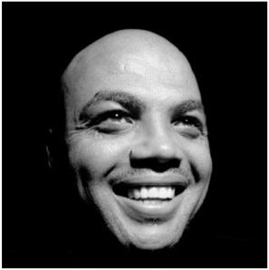 Charles Barkley black and white portrait