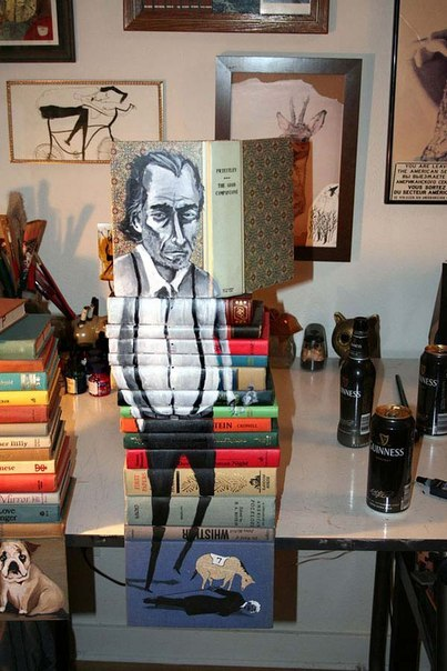 Stack of books painted covers