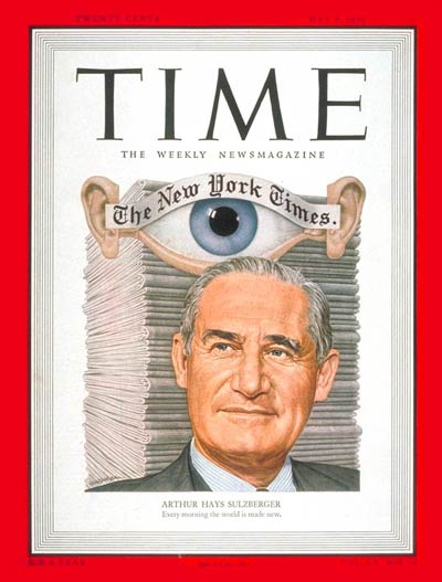Time magazine Arthur Hays Sulzberger