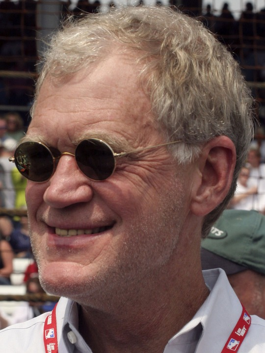 David Letterman with lanyard