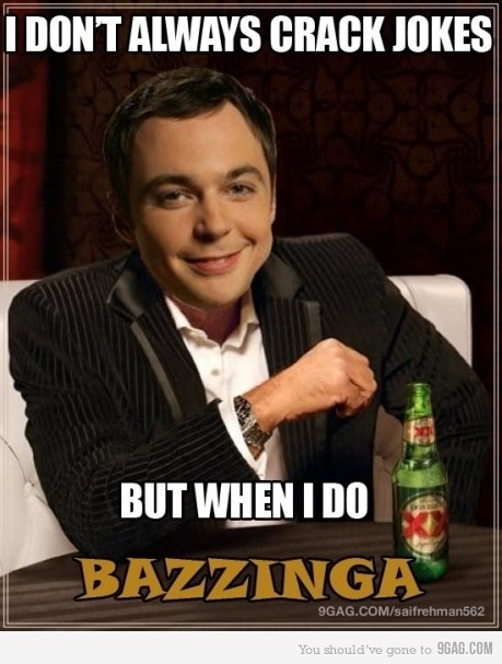 Sheldon Cooper Dos Equis parody
