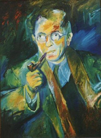 Jean Paul Sartre painting