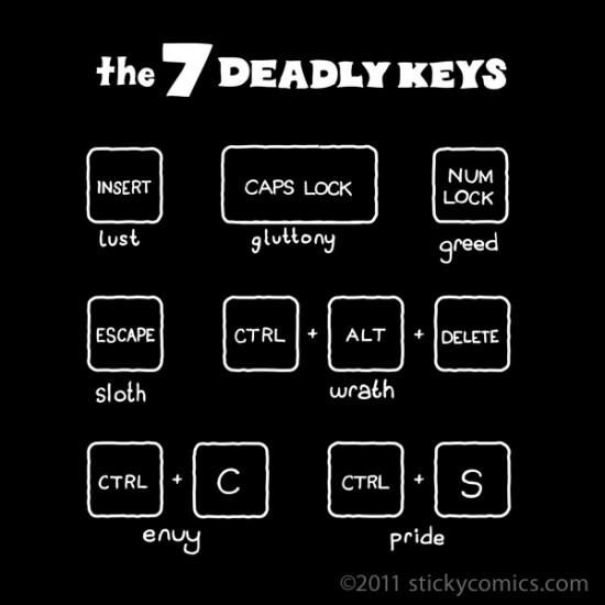 Seven Deadly Keys Tshirt