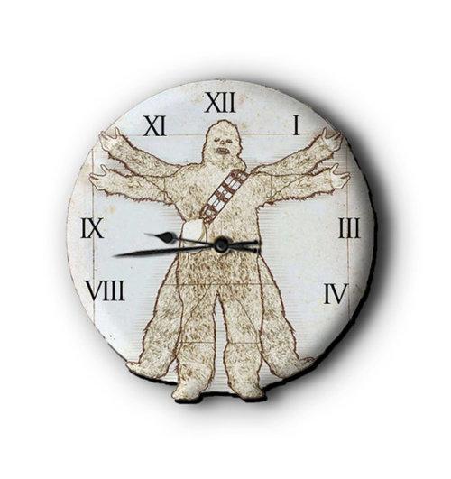 Vitruvian Wookiee clock