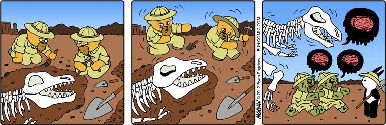 Zombie dinosaurs Buni comic