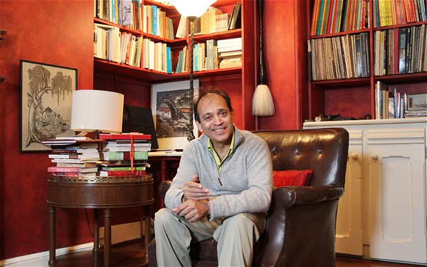 Vikram Seth in library