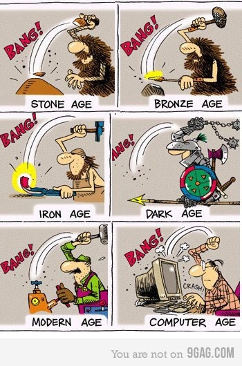 Stone age to computer age