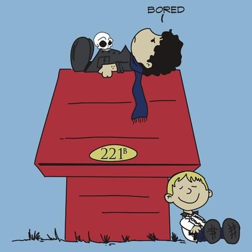 Sherlock Holmes John Watson Snoopy and Charlie Brown