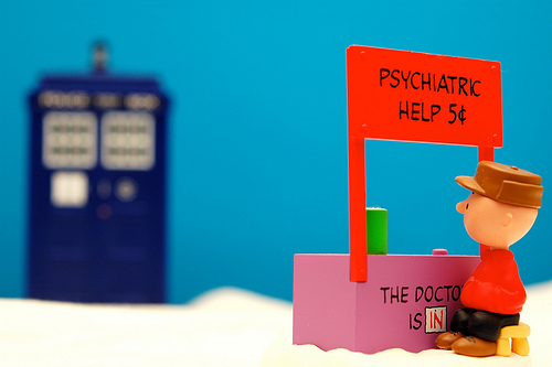 Charlie Brown Doctor Who is in