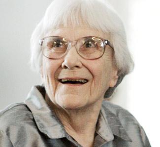 Harper Lee smiling