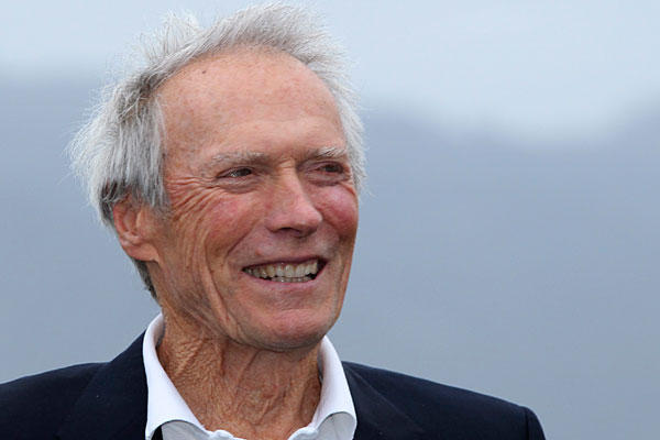 Clint Eastwood laughing