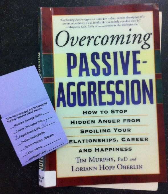 Overcoming Passive aggression pages missing