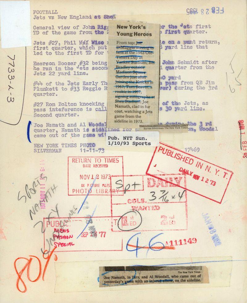 Joe Namath fur coat 2 1973 NYT Lively Morgue