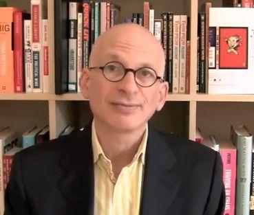 Seth Godin in library