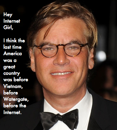 Aaron Sorkin Hey Internet Girl Tumblr