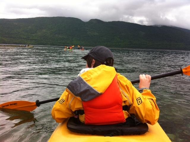 Nick paddling in Bonne Bay
