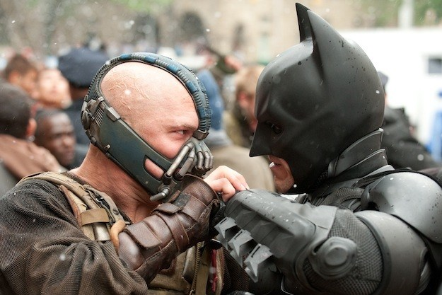 Bane Batman fight brawl Dark Knight Rises