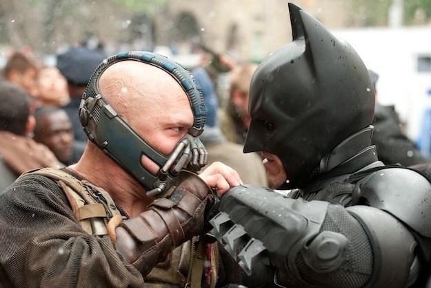 Bane Batman fight brawl Dark Knight Rises