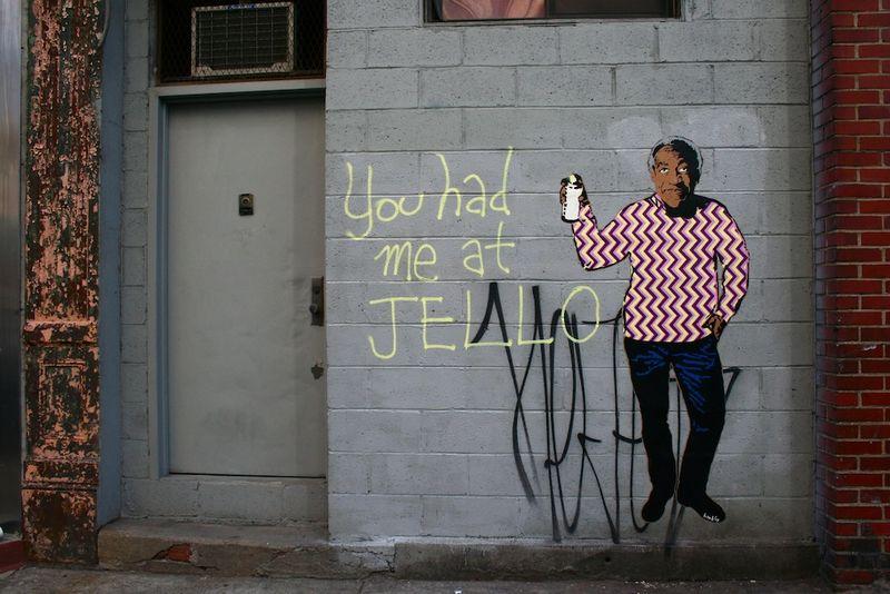 Bill Cosby Jello graffiti
