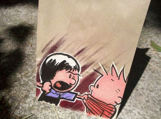 Calvin and Hobbes lunchbag