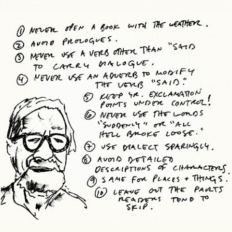 Elmore Leonard writing advice
